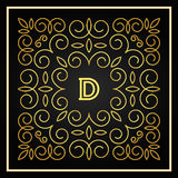 00799a. Decorative monogram for design template. Element for logo design, place for text stock illustration