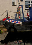 Decorative Moored Narrow boat Stock Images
