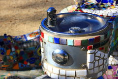 Decorative Mosaic Tile Drinking fountain Stock Photography