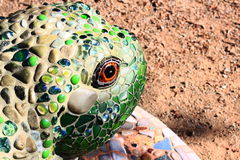 Decorative Mosaic Tile Frog in a garden Stock Image