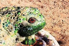 Decorative Mosaic Tile Frog in a garden Stock Photos