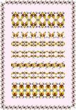 Decorative motifs swirl Stock Image