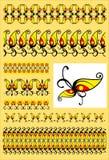 Decorative motifs swirl Stock Images