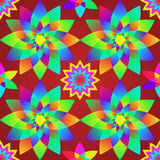 Decorative motley pattern with geometric flowers. Royalty Free Stock Photo