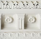 Decorative Moulding. Decorative white wall/ceiling moulding Stock Photos
