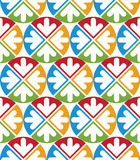 Decorative multicolored geometric seamless pattern with symmetri Stock Photo