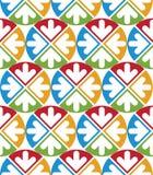 Decorative multicolored geometric seamless pattern with symmetri Stock Photo