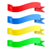 Decorative Multicolored Ribbon Banners. 3d Rendering. Decorative Multicolored Ribbon Banners on a white background. 3d Rendering Royalty Free Stock Image