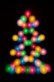 Decorative multicolour balls, Christmas tree shape Royalty Free Stock Image