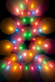 Decorative multicolour bubbles in Christmas tree Royalty Free Stock Image