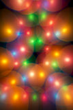 Decorative multicolour bubbles in Christmas tree Royalty Free Stock Photos