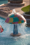Decorative mushroom in the water park Royalty Free Stock Photography