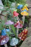 Decorative garden mushrooms Stock Images