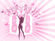 Decorative music background Stock Photo