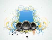 Decorative music frame Royalty Free Stock Images