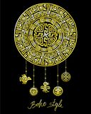 Decorative mystical circle with a beads ethnic jewelry. Stock Photo