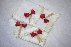 Decorative napkins Stock Photo