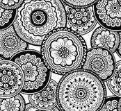 Decorative nature ornamental seamless pattern. Beautiful doodle art pattern. Zentagle style. Ethnic pattern vector illustration