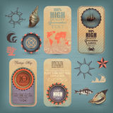 Decorative Nautical Set Stock Photos