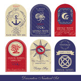 Decorative Nautical Set Royalty Free Stock Images