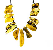 Decorative necklace of Baltic amber Royalty Free Stock Photos