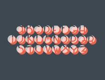 Decorative negative space font Stock Image