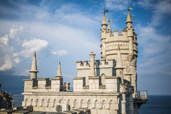 The decorative Neo-Gothic castle Swallow& x27;s Nest Stock Photography
