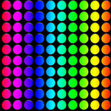 Decorative neon lights. In soft focus and movement Royalty Free Stock Photos