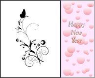 Decorative new year card Stock Photography
