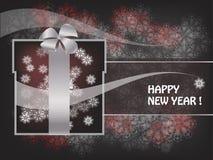 Decorative New Year postcard Stock Photos
