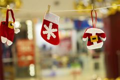 Decorative New Year Santa`s costume Stock Photography