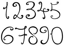 Decorative numbers Stock Images