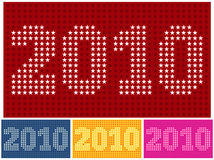 Decorative numbers 2010 Royalty Free Stock Images
