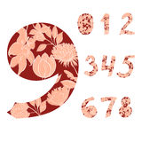 Decorative numbers Royalty Free Stock Image