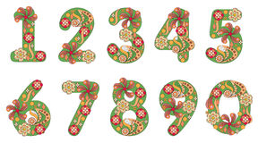 Decorative numbers Stock Photos