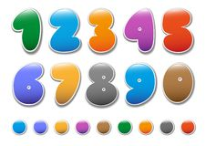 Decorative numbers set2 Royalty Free Stock Images