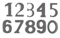 Decorative numerals Stock Photos