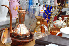 Decorative objects flea market Royalty Free Stock Photography