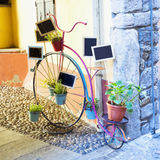 Decorative old bycicle Royalty Free Stock Image