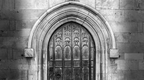 Decorative Old Door Gothic Arch Royalty Free Stock Photos