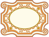 Decorative old fashioned vector sign Stock Photos