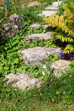 Decorative old stone steps Royalty Free Stock Images