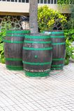Decorative Old Wooden Barrel Royalty Free Stock Image