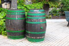 Decorative Old Wooden Barrel Royalty Free Stock Images