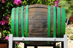 Decorative Old Wooden Barrel Stock Images
