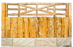 Decorative old wooden fence Stock Photos