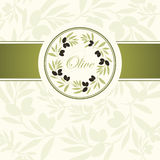 Decorative olive branch. For label, pack Stock Photos