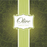 Decorative olive branch. For label, pack Stock Photography
