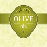 Decorative olive branch. For label, pack Royalty Free Illustration