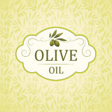 Decorative olive branch. For label, pack Vector Illustration